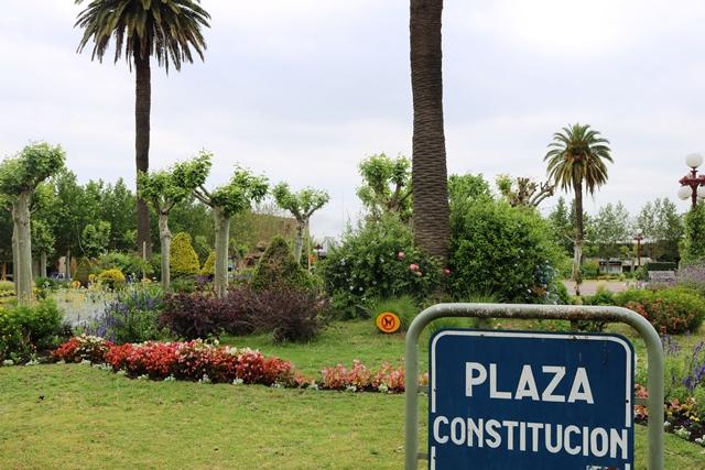 """Mujeres """"Jefas de Hogar"""" detrás del diseño de jardines en plazas de Fray Bentos"""
